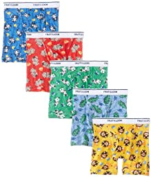 Fruit of the Loom Little Boys\'  Boxer Brief , Multi, 2T/3T, Assorted(Pack of 5)