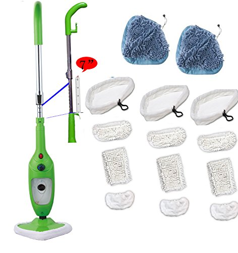 Goledgo Upgrade Steam Mop X5 As Seen On Tv - Ultra Clearing Package 14Pcs Mop Pads By Goledgo