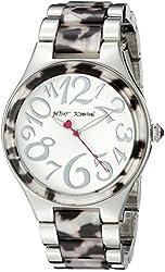 Betsey Johnson Women's BJ00510-01 Analog Display Quartz Silver Watch