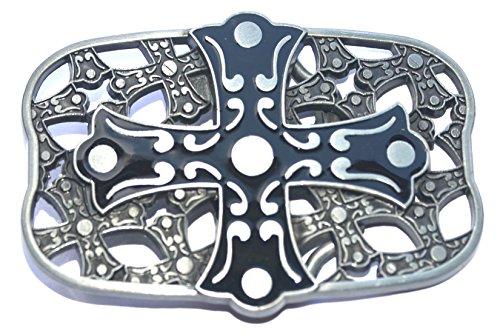 new western fashion gothic cross enameled cool belt buckle WT061AS