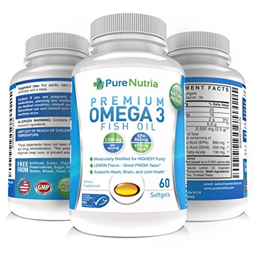 Best omega 3 fish oil 2500mg of quality fish oil 860mg epa for Best quality fish oil