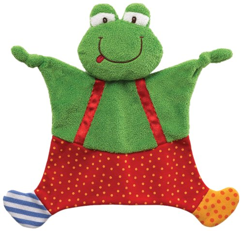 "Gund Baby Sock Hop Crinkle Buddy Blanket, Frog, 11"" (Discontinued by Manufacturer)"