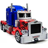 The Flyer's Bay One Button Transforming Car Into Robot With Cool Dance Features (Optimus Prime)