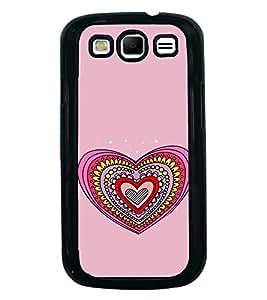Hearts Pattern 2D Hard Polycarbonate Designer Back Case Cover for Samsung Galaxy S3 i9300 :: Samsung I9305 Galaxy S III :: Samsung Galaxy S III LTE