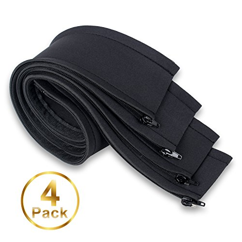 quilliances cable management sleeve 4 pack adjustable neoprene flexible cable sleeve 19. Black Bedroom Furniture Sets. Home Design Ideas