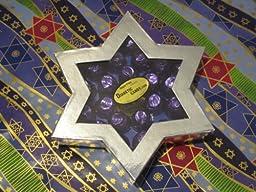 Diabetic Candy Jewish Star of David Gift Box Dark Chocolate Cordial Cherries Sugar Free Chanukah