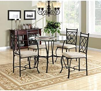 Mainstays 5-Pc. Glass Top Metal Dining Set