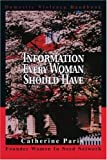 img - for Information Every Woman Should Have: Domestic Violence Handbook by Catherine Paris (2003-06-23) book / textbook / text book