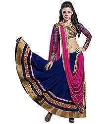 Nilkanth Enterprise Priyanka Blue Lehengha Choli