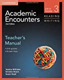 img - for Academic Encounters Level 3 Teacher's Manual Reading and Writing: Life in Society 2nd edition by Williams, Jessica, Brown, Kristine, Hood, Sue (2012) Paperback book / textbook / text book