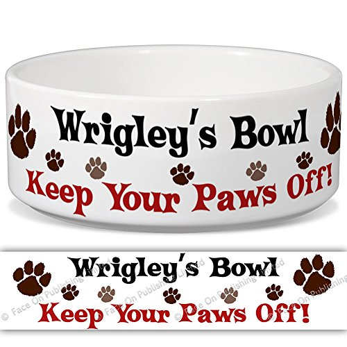 wrigleys-bowl-keep-your-paws-off-personalised-name-ceramic-pet-food-bowl-155mm-x-60mm-small