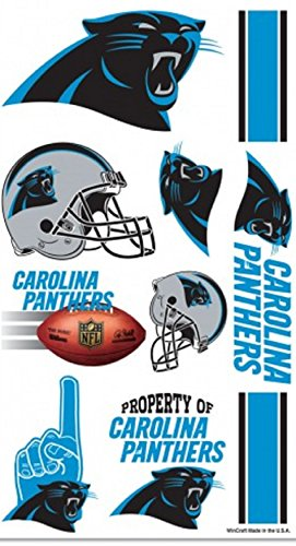 Carolina Panthers Temporary Tattoos - 1