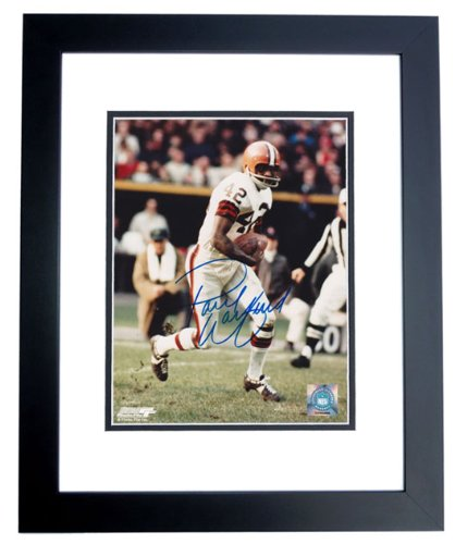 Paul Warfield Autographed / Hand Signed Cleveland Browns 8x10 Photo - FREE SHIPPING - BLACK CUSTOM FRAME at Amazon.com