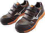 ミズノ 安全靴 MIZUNO ワークシューズオールマイティ ベルトタイプ C1GA1601 55 ブラウン×ベージュ×オレンジ 26.0cm