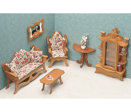 Greenleaf Dollhouse Furniture-Living Room Set