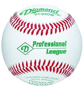 Diamond Professional League Baseball with Non-Raised Seams, Dozen by Diamond Sports