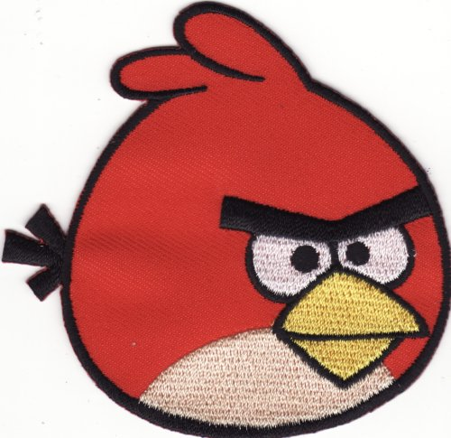 Red Bird Video Game DIY KID Embroidered Iron on Patch