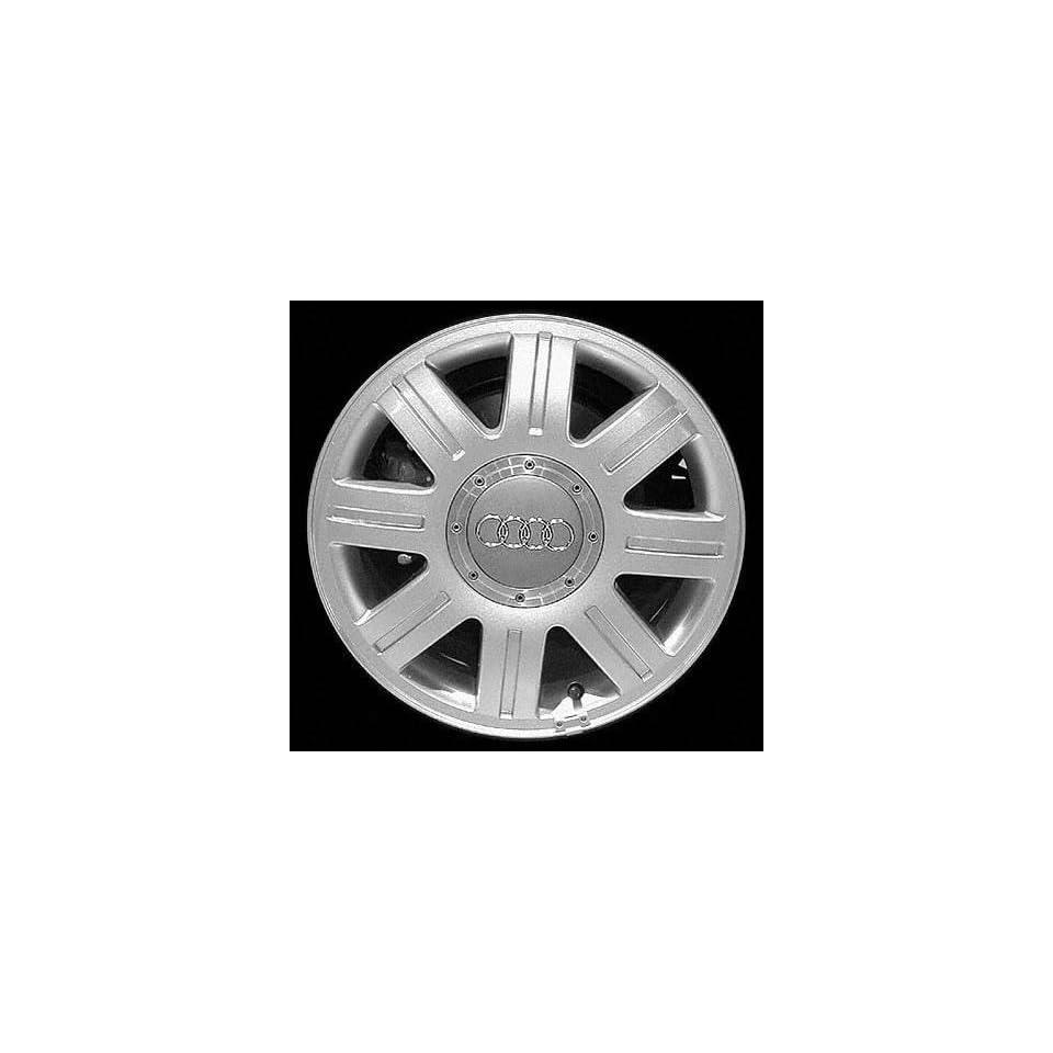 98 01 AUDI A4 ALLOY WHEEL RIM 15 INCH, Diameter 15, Width 7 (8 SPOKE), 45mm offset, SILVER, 1 Piece Only, Remanufactured (1998 98 1999 99 2000 00 2001 01) ALY58720U10