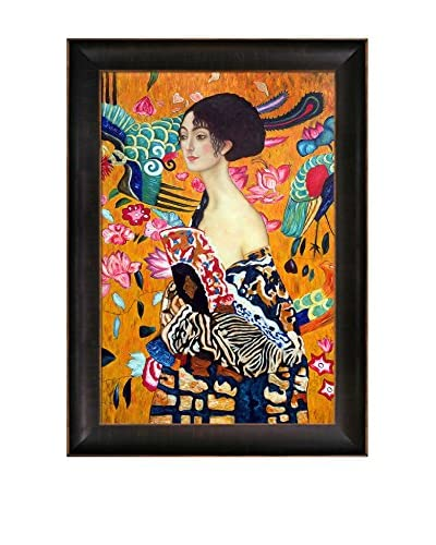 Gustav Klimt Signora Con Ventaglio Hand-Painted Reproduction