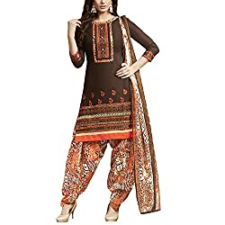 Applecreation Brown | cotton dress materials for women low price PARTY WEAR new collections Salwar Suit Kameez