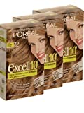 3 x Loreal Paris Excell 10' Hair Colour Permanent 7.13 Dark Frosted Blonde