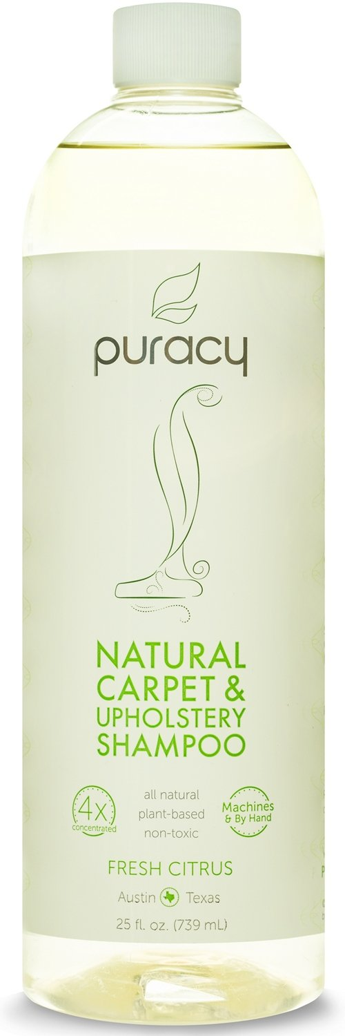 Puracy Natural Carpet & Upholstery Shampoo - Eliminates Stains & Odors - 4x Concentrated - For Machines & By Hand - Sulfate-Free & Non-Toxic - Child & Pet Safe - Fresh Citrus