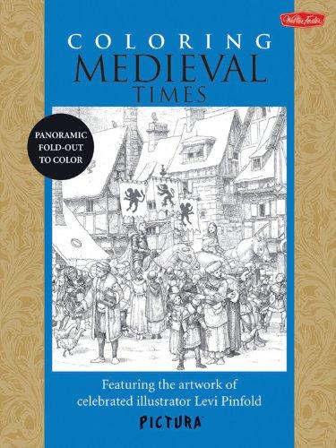 Coloring Médiéval Times /Anglais (Pictura)