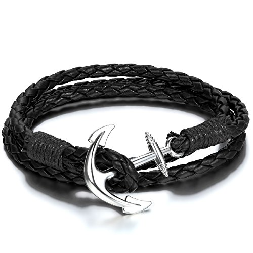 jewelrywe-bracelet-manchette-bouton-ancre-anchor-pirate-tresse-multi-couche-tribal-cuir-alliage-cord