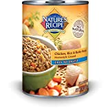Nature's Recipe Canned Dog Food for Adult Dog, Easy to Digest Chicken Rice and Barley Meal (Pack of 12, 13.2 Ounce Cans)