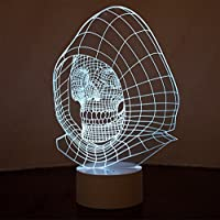 Optical Illusion 3D Skull Lamp