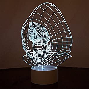 Optical Illusion 3D Skull Lamp