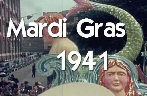Classic Mardi Gras Parade & Float Films DVD: Historic 1941 New Orleans Mardi Gras Parade, Decorations, Floats, Celebration & Party Video Footage & Pictures