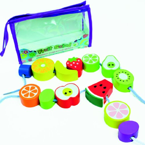 Meadow Kids Fruit Salad Wooden Threading Beads