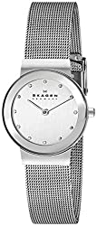Skagen Classic Analog Silver Dial Womens Watch 358SSSD