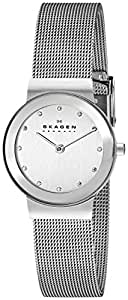 Skagen Women's 358SSSD Freja Stainless Steel Watch with Swarovski Elements
