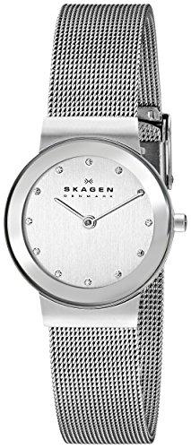 Skagen - 358SSSD - Montre plate Femme - Quartz analogique - Bracelet en acier maille milanaise