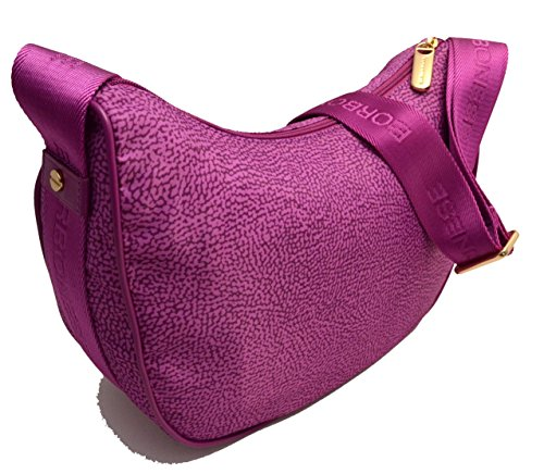 Borsa-spalla-tracolla-donna-Luna-Media-Bag-Borbonese-jet-op-Women-Satchel-Bag-Fucsia