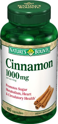 Nature's Bounty Cinnamon 1000mg, 100 Capsules