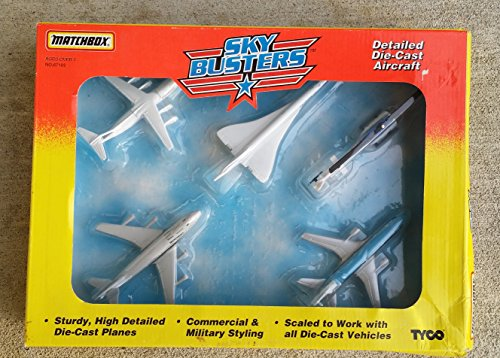 1995-matchbox-sky-busters-5-pack-set-of-airplanes-set-includes-continental-110-air-france-concord-be