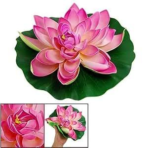 Amazon.com : La decoración de la flor de Lotus Acuario Paisaje verde