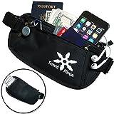 Travel Ninja 2-in-1 RFID Blocking Money Belt w/ Secret Hidden Back Pocket