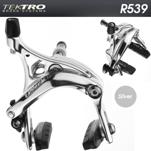 Buy Low Price TEKTRO R539 Fixie Track Road Bike Dual Pivot Brake Calipers Silver (R539-PR-SIL)