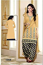 The Great indian sale Women's New Fashion Designer Fancy Wear Todays Low Price Best Special Offer Beige Embroidered Glass Work Patiyala Salwar Suit