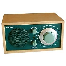 Tivoli Audio M1GRN Henry Kloss Model One AM/FM Table Radio, Hunter/Maple