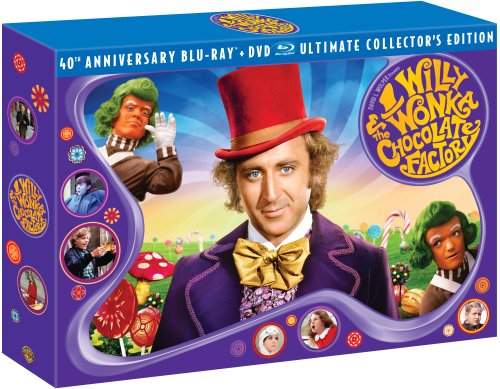 Cover art for  Willy Wonka & the Chocolate Factory (Three-Disc 40th Anniversary Collector's Edition Blu-ray/DVD Combo)