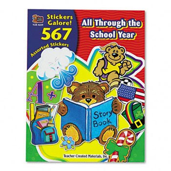 Sticker Book, All Through the School Year, 567/Pack - TCR4229