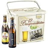 Kalea Spezialitäten Bier Box, 12 ausgewählte Biere verpackt in einer hochwertigen Metallbox (12 x 0,33 l)