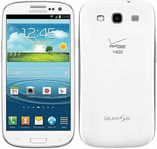 Samsung Galaxy S3 SCH-I535 Verizon Phone, 16GB, Marble White (Samsung Galaxy S3 Red compare prices)