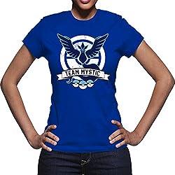 Pokemon Go Team Mystic T Shirt Women (Royal, XL)