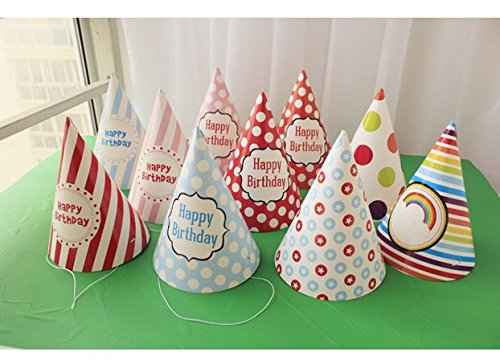 lovely-paper-cone-birthday-party-hats-for-Children-and-AdultsBirthday-party-supplies-10-pcs